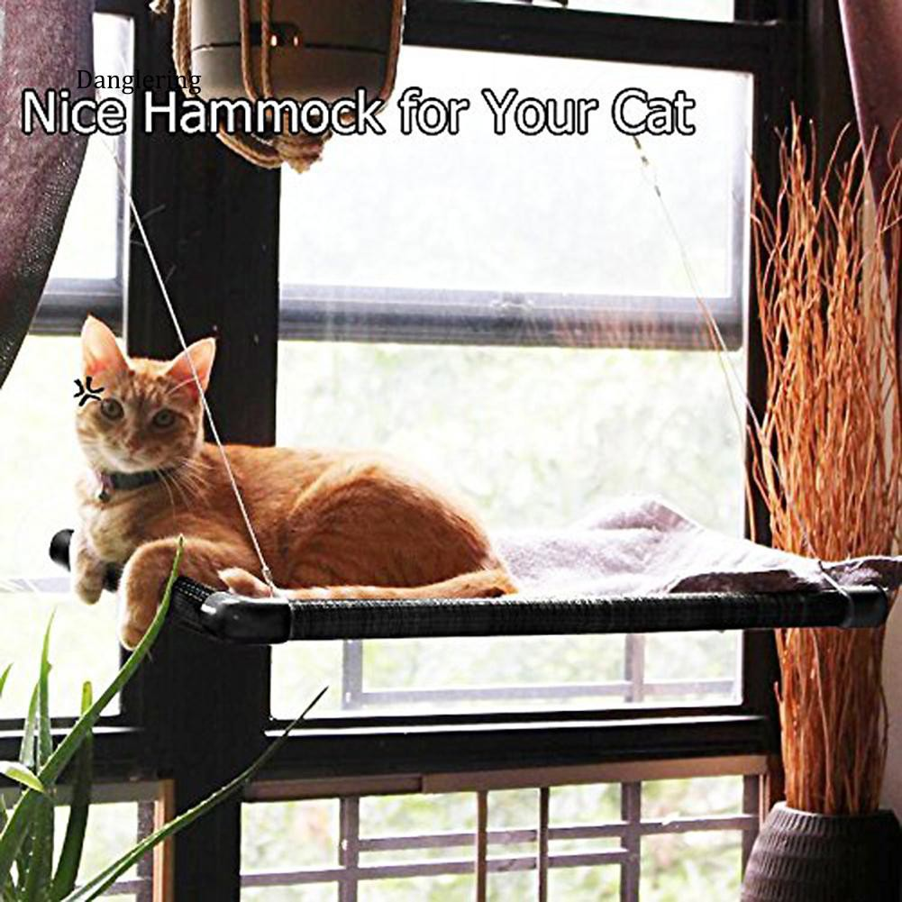 【DGLG】Pet Cat Window Mounted Perch Seat Bed Kitten Cot Suction Cup Breathable Hammock