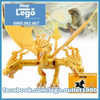Xếp hình King Ghidorah, quái vật ngoài không gian Godzilla: King Of The Monsters Lego Minifigures PRCK GXL050