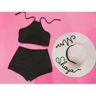 [HOT]Bikini 2 mảnh áo yếm đen ( Kèm ảnh khách)- MỚI NHẤT