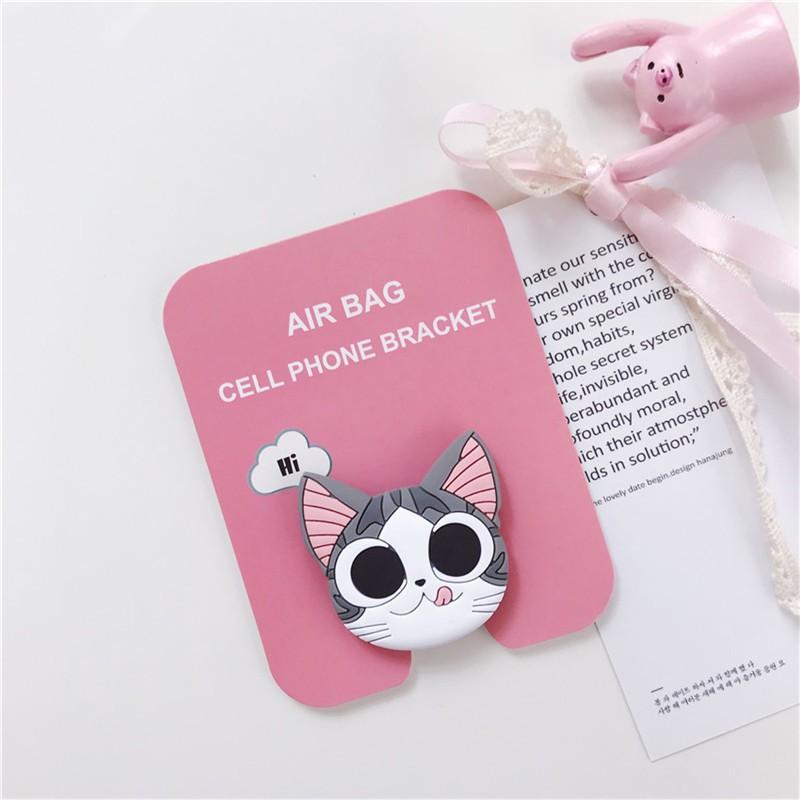 Đế đỡ điện thoại hình bé mèo Chi/ mèo máy Doraemon/báo hồng nhiều mẫu dễ thương tùy chọn
