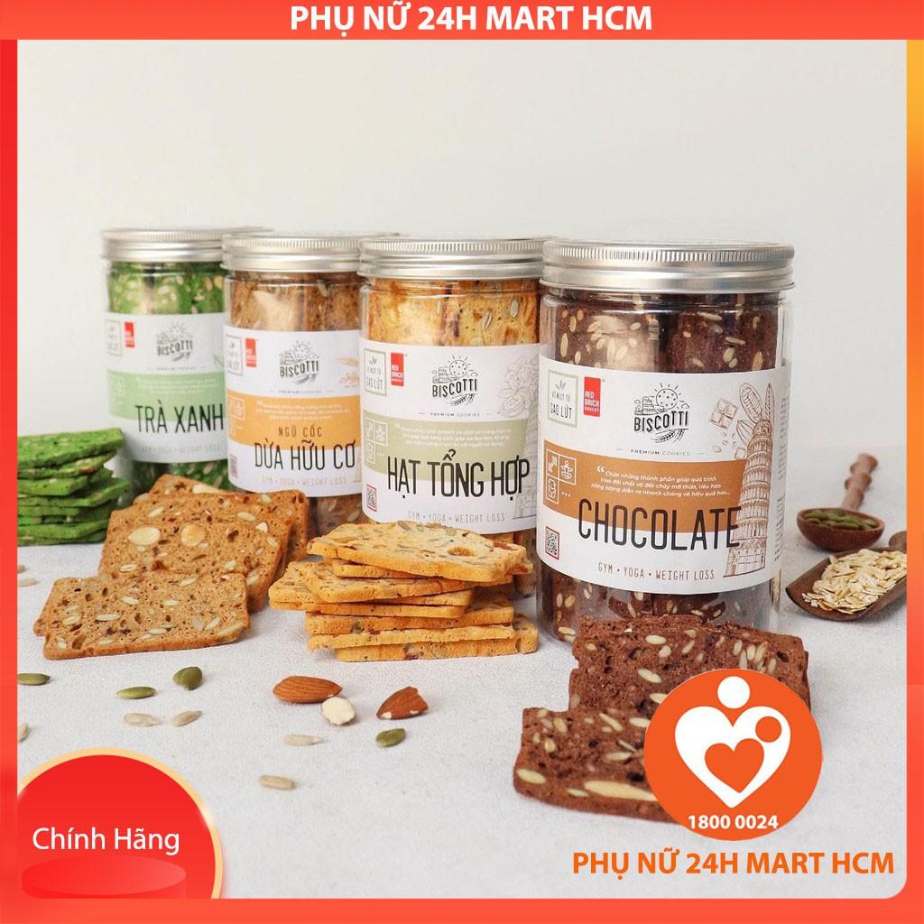 Bánh BISCOTTI Gạch Đỏ 250g - Bánh Ăn Kiêng, Giảm Cân, Dành Cho Người Tiểu Đường