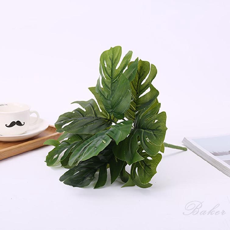 เต่าจำลองกลับใบกาวสัมผัสใบไม้สีเขียวพืชกระถางพืชตกแต่ง 259