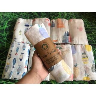 hăn xô tắm Muslin Swaddle 100% Organic cotton đẹp