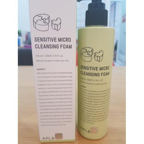 sensitive micro cleansing foam