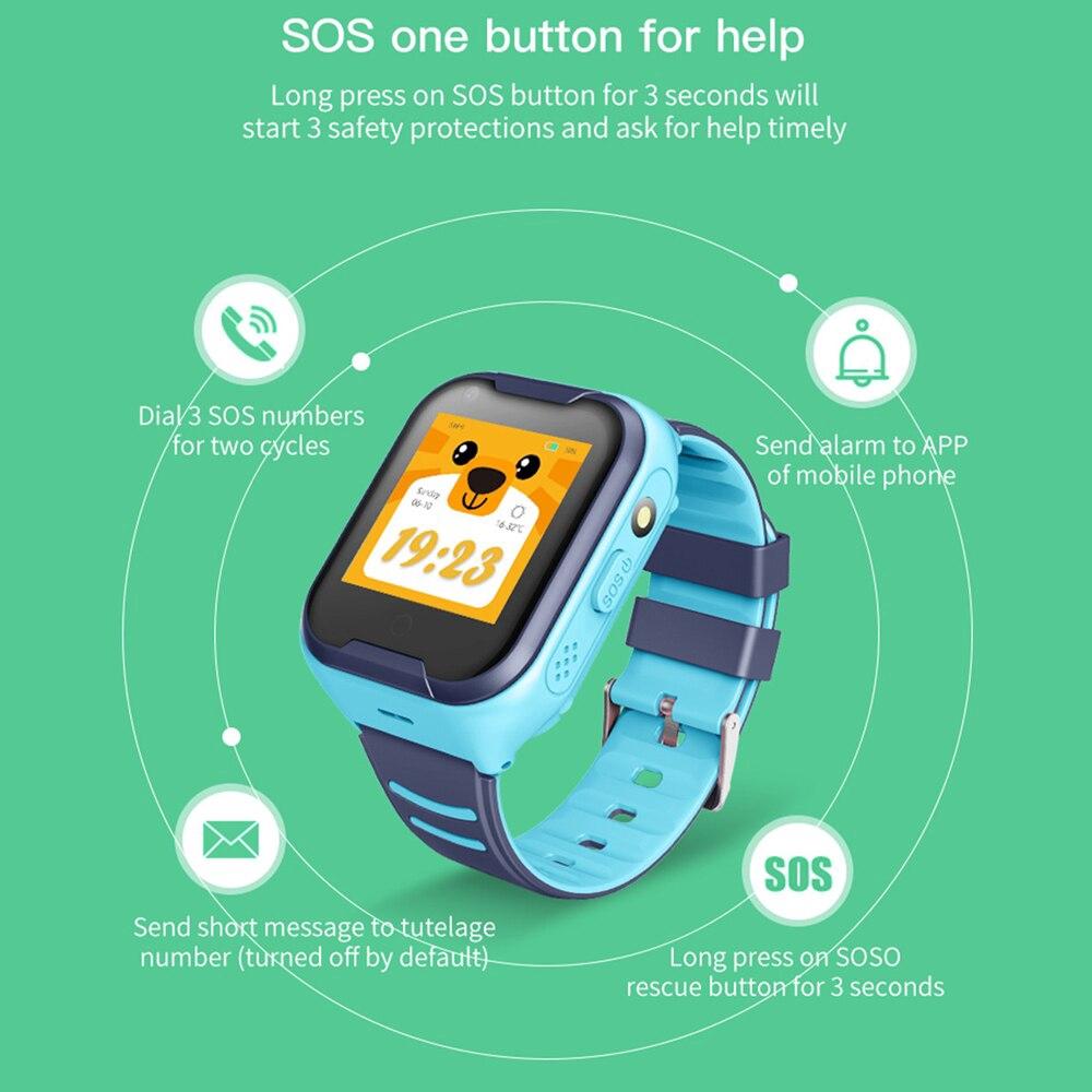 4G thông minh Child Xem Mạng GPS Wifi SOS Kids Smartwatch Waterproof Video  Call Alarm Clock Camera Watch - Đồng hồ trẻ em