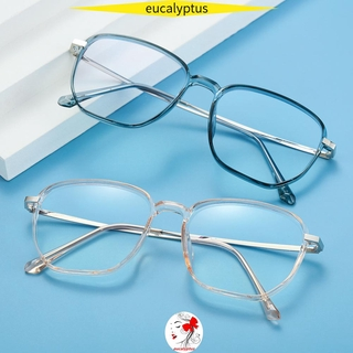 🌱EUPUS🍀 Retro Office Computer Goggles Vision Care Safety Goggles Blue Light Blocking Glasses Anti Eyestrain Square Frame Unisex Eyewear Radiation Protection Gaming Eyeglasses