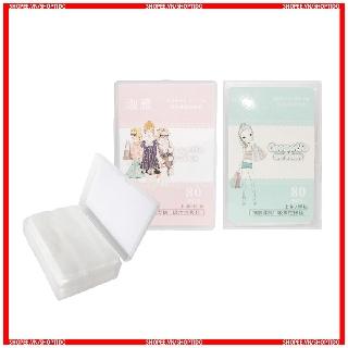 Bông tẩy trang Makeup Cotton hộp 80 miếng nội địa Trung thumbnail