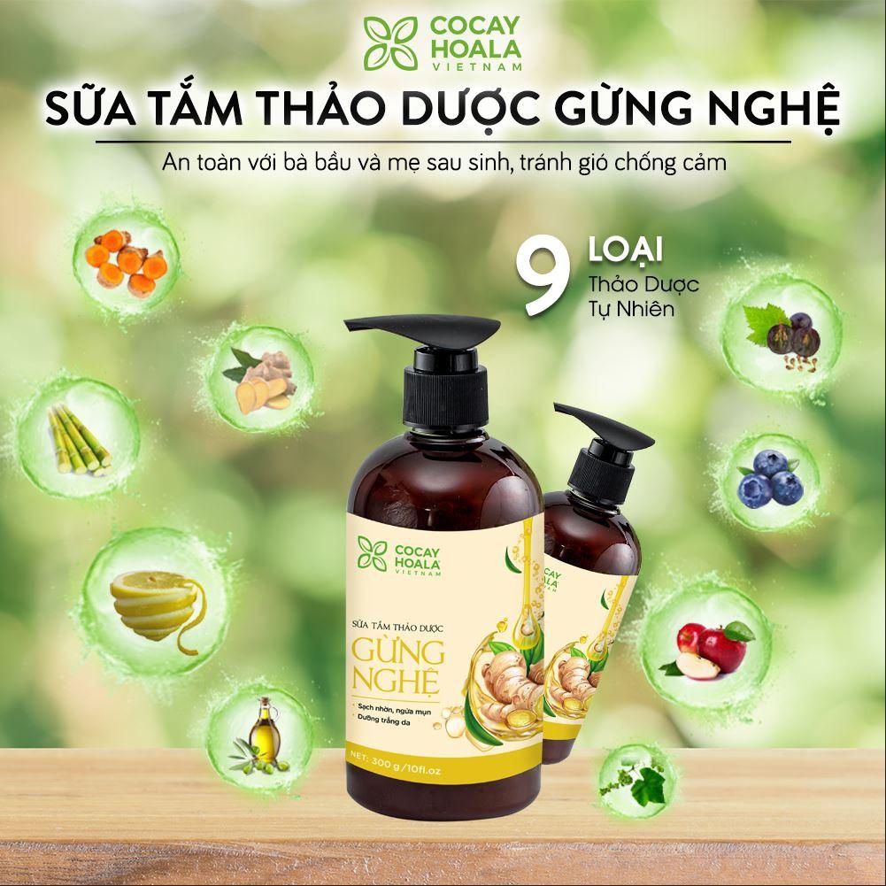 Combo Sữa Tắm Thảo Dược Gừng Nghệ Tránh Gió Chống Cảm Cocayhoala 300g | Shopee Việt Nam