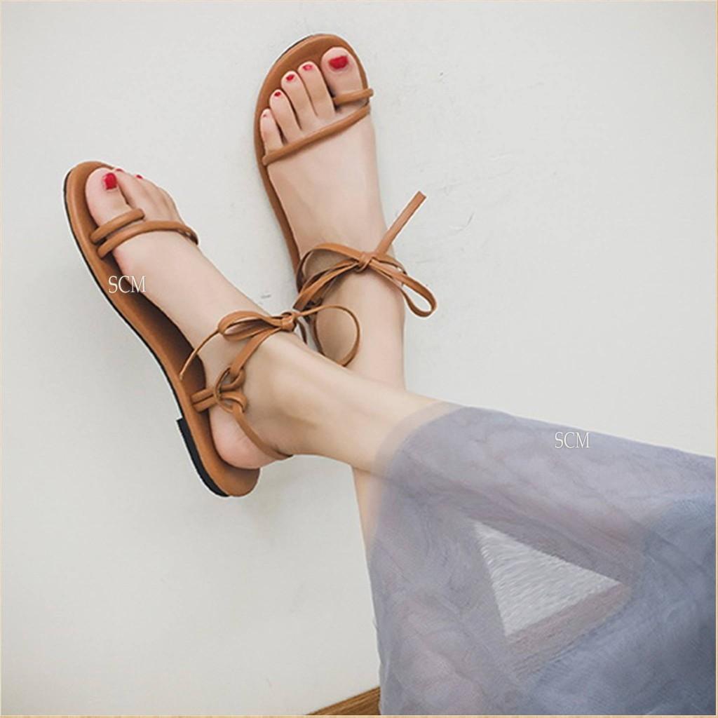 Giày sandal xỏ ngón dây mãnh   giày sandal nữ cột dây - 2560522 , 340424841 , 322_340424841 , 140000 , Giay-sandal-xo-ngon-day-manh-giay-sandal-nu-cot-day-322_340424841 , shopee.vn , Giày sandal xỏ ngón dây mãnh   giày sandal nữ cột dây