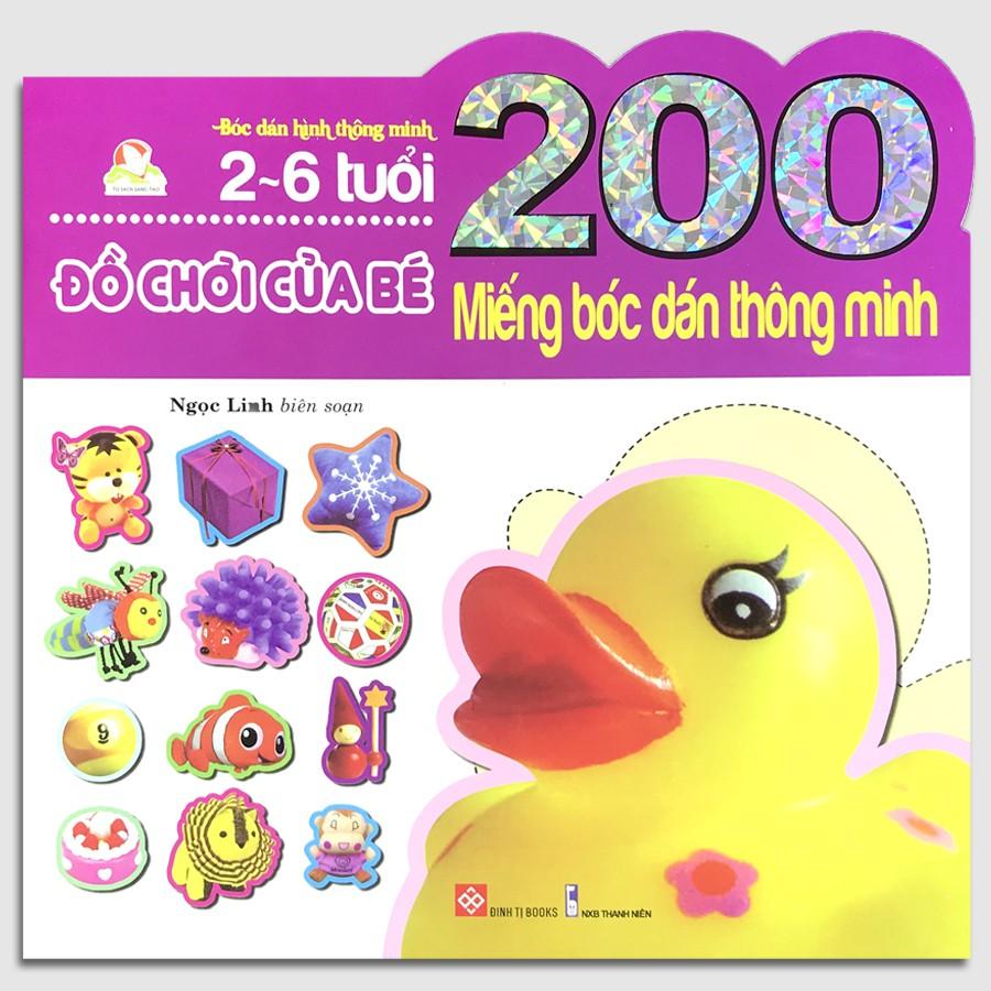 Sách - 200 Miếng bóc dán thông minh 2-6 tuổi - Đồ chơi của bé