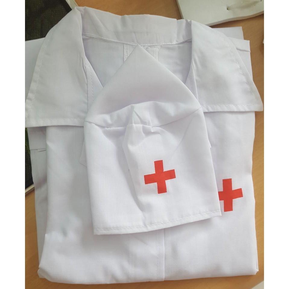 [Hướng Nghiệp Cho Bé Yêu] Áo Bác Sĩ Kèm Mũ Cho Bé Yêu Làm Bác Sĩ