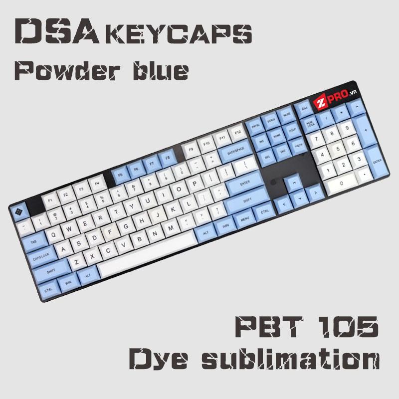 Bộ Keycap PBT DSA Powder Blue 105 keys - 2824060 , 1202382397 , 322_1202382397 , 1490000 , Bo-Keycap-PBT-DSA-Powder-Blue-105-keys-322_1202382397 , shopee.vn , Bộ Keycap PBT DSA Powder Blue 105 keys