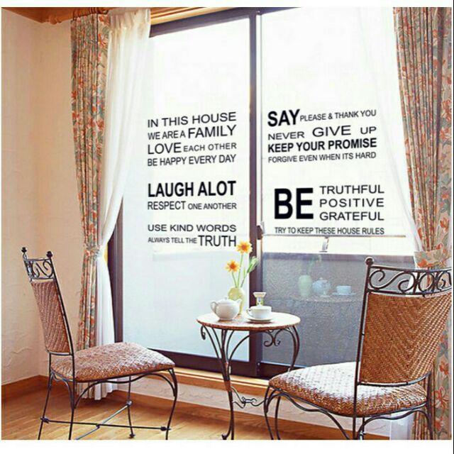 Decal trang trí chữ tiếng anh IN THIS HOUSE - 60 x 90