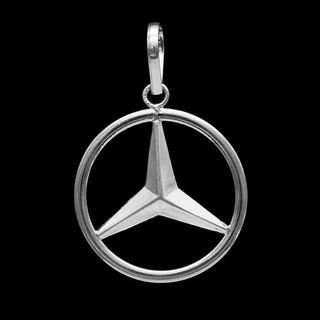 Mặt dây chuyền Mercedes bằng bạc nguyên chất