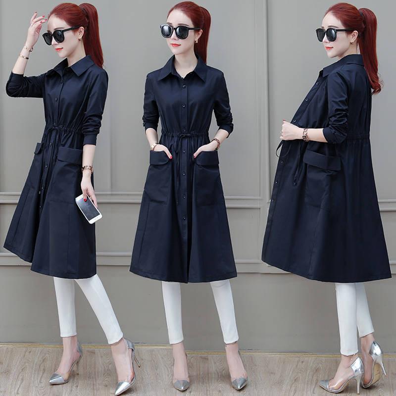 Áo khoác dáng dài cột dây nhấn eo kiểu hàn quốc thanh lịch tinh tế đẳng cấp cho nữ
