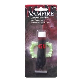 Răng máu ma cà rồng phát sáng trong bóng tối Halloween Uncle Bills UH00463