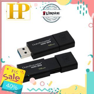 [Mã ELFLASH5 giảm 20K đơn 50K] USB 3.0 Kingston 16GB 100G3 Đen - Hãng phân phối chính thức