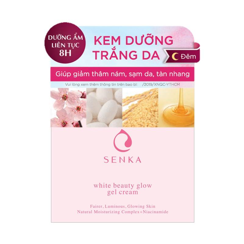 Thumbnail of Kem dưỡng trắng da ban đêm Senka White Beauty Glow Gel Cream 50g