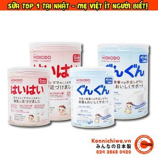 Sữa Bột WAKODO Nội Địa Nhật - Đủ Số - Cho Bé Từ Sơ Sinh Đến 3 Tuổi (Có Lon Nhỏ 300g) - Mẫu Mới thumbnail