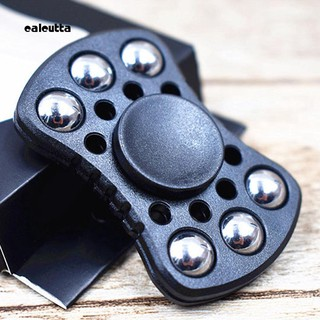 CAL_Steel Ball Bear Paw Print Bowtie Fidget Hand Spinner Finger Toy for Autism ADHD