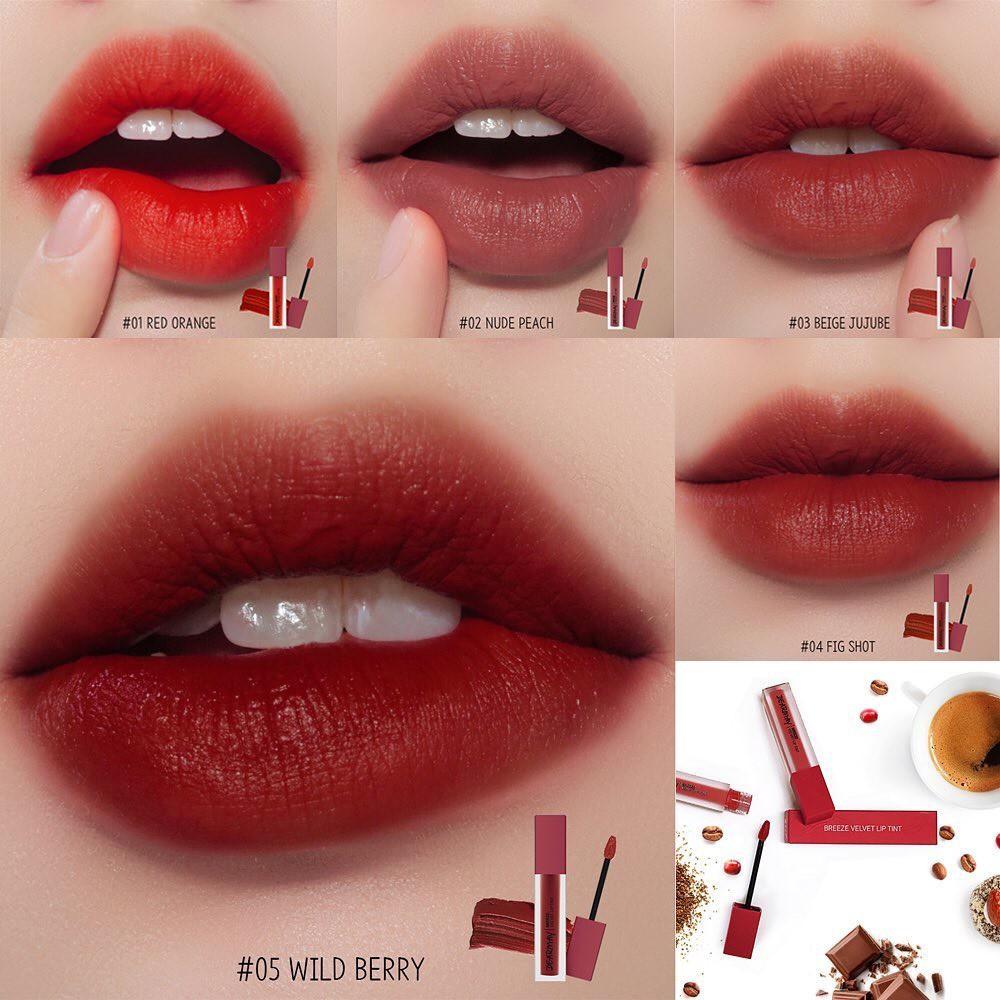 Kết quả hình ảnh cho son dearmay breeze velvet lip tint 01 red orange
