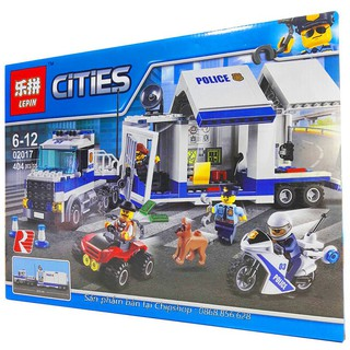Bộ Lego Lắp Ráp City Ninjago Police. Có 404 Chi Tiết. Lego Xếp Hình Đồ Chơi Cho Bé