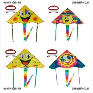 OPC 1Set 80*45cm Smiling face kite outdoor sports flying kites with 50m handle line