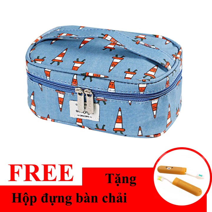 Túi đựng mỹ phẩm du lịch họa tiết mini + Tặng hộp đưng bàn chải hình gấu - 2475511 , 1294499797 , 322_1294499797 , 104000 , Tui-dung-my-pham-du-lich-hoa-tiet-mini-Tang-hop-dung-ban-chai-hinh-gau-322_1294499797 , shopee.vn , Túi đựng mỹ phẩm du lịch họa tiết mini + Tặng hộp đưng bàn chải hình gấu