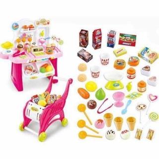 Combo mua 1 được 2 quầy kem và xe đẩy siêu thị