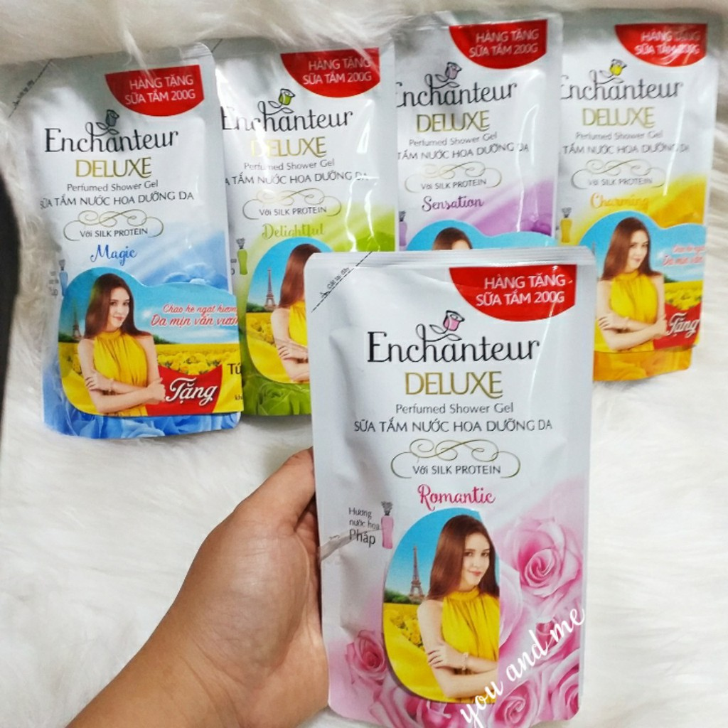 [200g] Sữa Tắm Hương Nước Hoa Enchanteur  (hàng tặng)