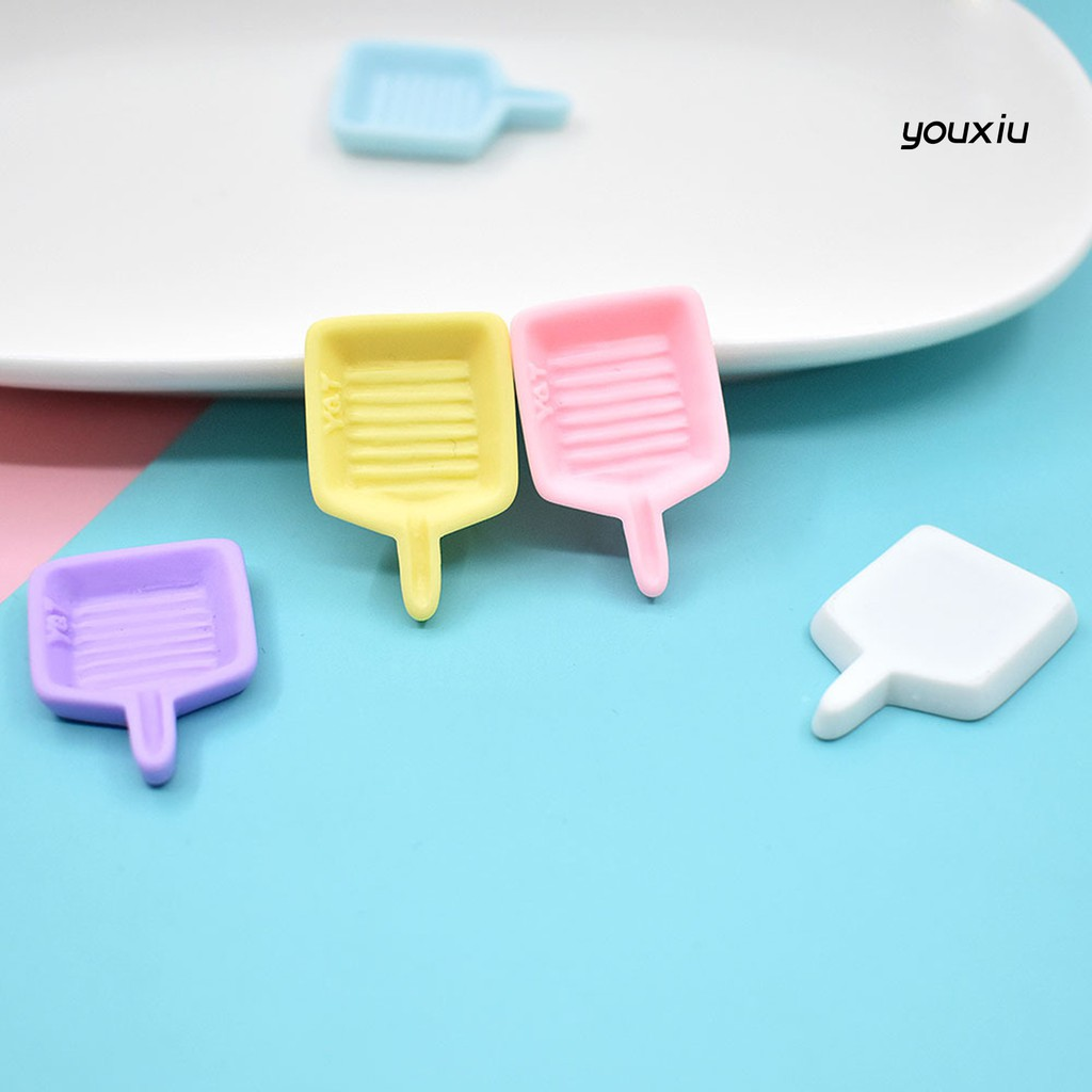 YOU-d 5Pcs Dollhouse Resin Simulation Miniature Bakeware Tray DIY Decor Accessories
