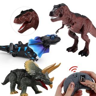 ❤READY Simulation Infrared Remote Control Lizard Tyrannosaurus Triceratops Dinosaur Animal Model Toy