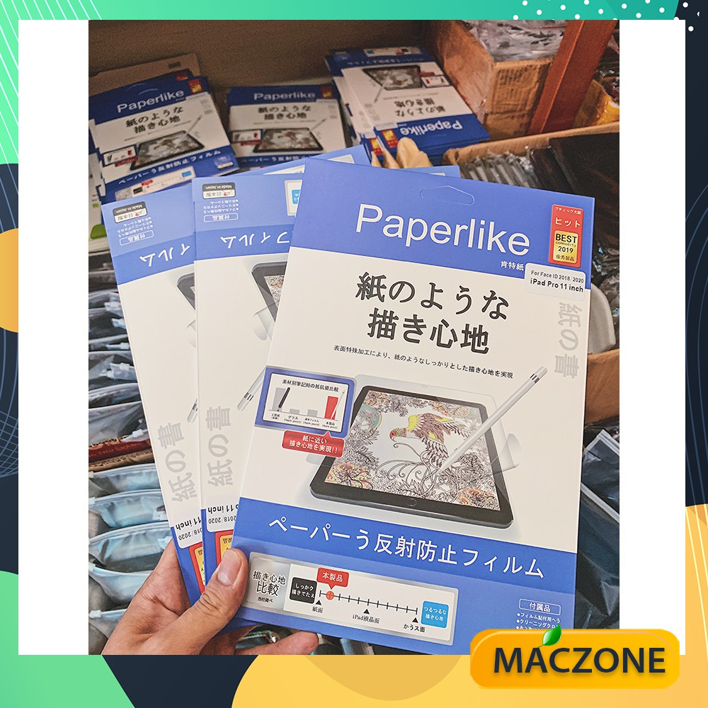 """Dán màn hình iPad Paperlike Paper-like iPad 11/10.5""""/9.7/Mini 4/5/12.9 inch Air 4 Chống vân tay - Nhập khẩu Japan (ZZ01)"""