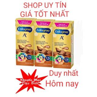 Vị mới Giảm Sốc- socola siêu ngon-Lốc 3 Hộp Sữa Nước Enfagrow A+ UHT Chocolate 180ml/Hộp date mới nhất