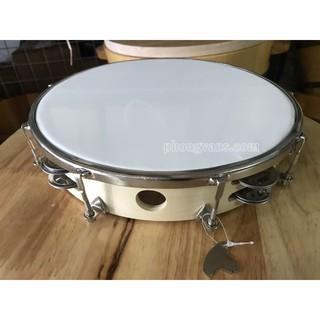 Trống lắc gõ bo tambourine vành gỗ