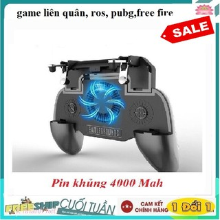 Tay cầm chơi game tản nhiệt - nút PUBG + PIn dự phòng 2000mah - PUBG, ROS, FF siêu hot 2020 thumbnail