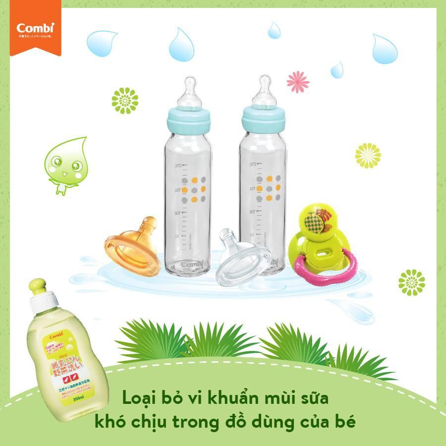 chai dung dịch nước rửa bình Combi 300ml