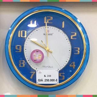 Đồng hồ treo tường Kashi K211 Kim trôi siêu tĩnh - tặng pin panasonic