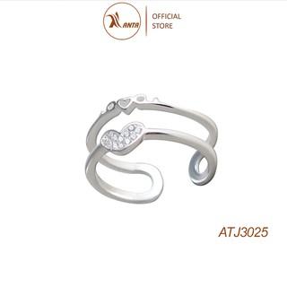 Nhẫn bạc 925 hình trái tim chữ love, ANTA Jewelry - ATJ3025 thumbnail