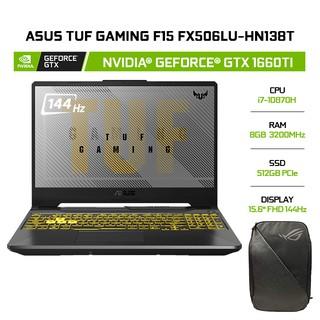 Laptop ASUS TUF Gaming F15 FX506LU-HN138T GeForce GTX 1650 4GB i7-10870H 8GB 512GB 15.6 144hz W10 thumbnail