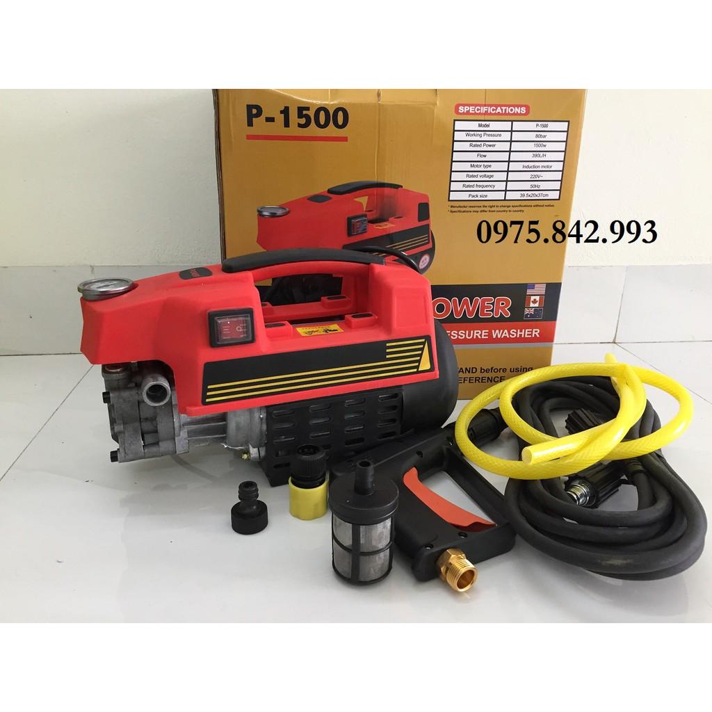Máy xịt rửa mini 1500W-động cơ dây đồng-máy rửa xe
