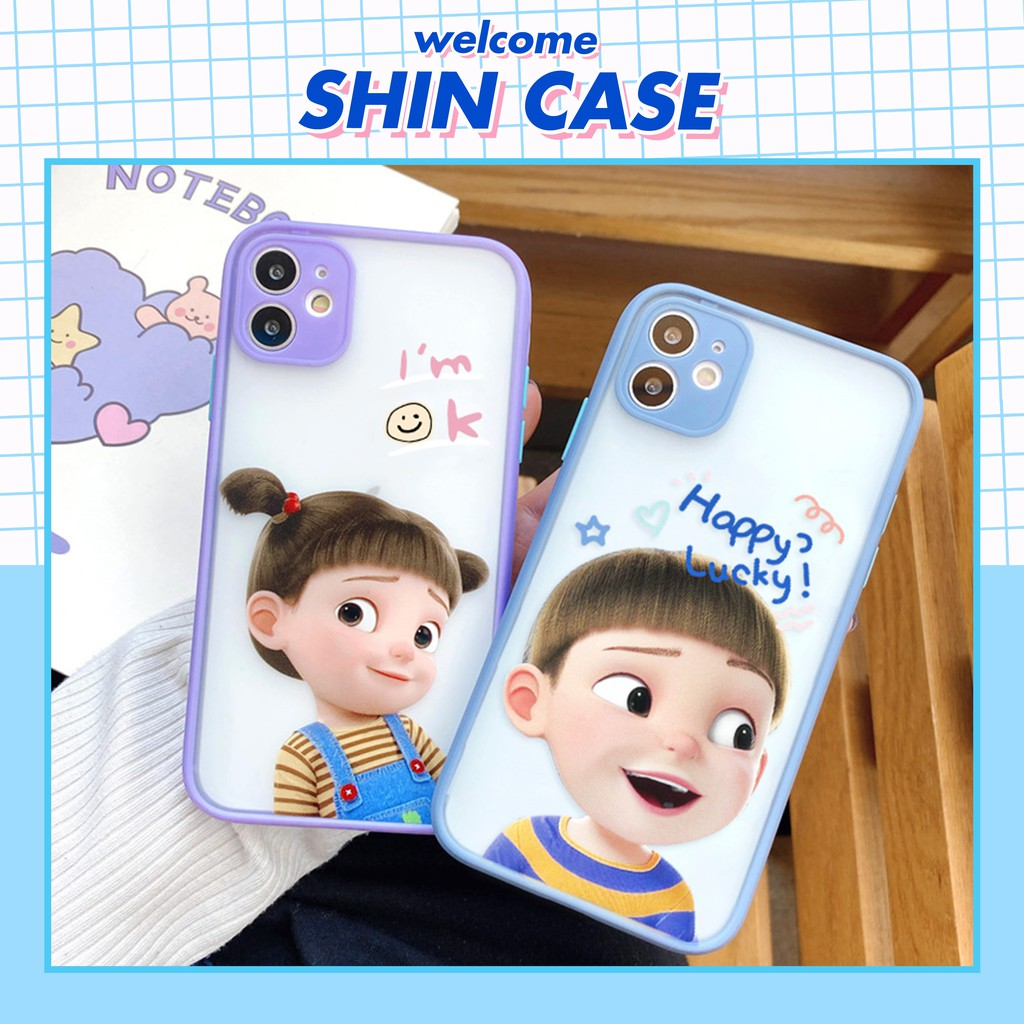 Ốp lưng iphone Couple Doll bảo vệ camera 5s/6/6plus/6s/6splus/6/7/7plus/8/8plus/x/xs/xsmax/11/11pro/11promax– Shin Case