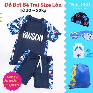Đồ Bơi Bé Trai Size Lớn Twin, Đồ Bơi Áo Quần Rời Size Đại Cho Bé Trai Thiếu Niên Từ 30 ~ 50kg