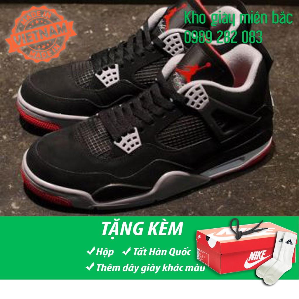 Giày Jordan 4 đen đỏ (fullbox + free ship)
