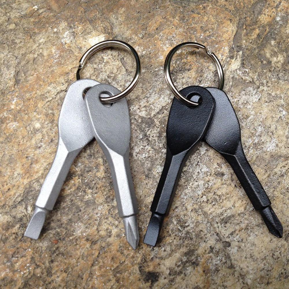 Dụng cụ đa năng bỏ túi , được làm từ thép không gỉ , có thể gắn chìa khóa