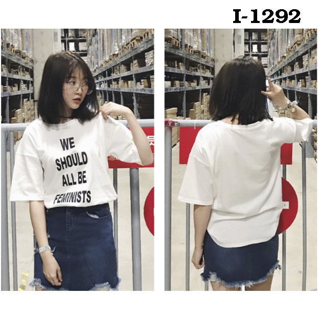 Áo thun nữ in chữ kiểu - I1292