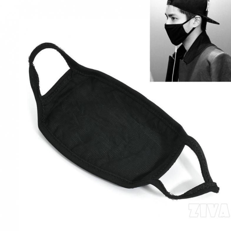 [Mã FSS09JAN hoàn 20% XU đơn từ 0đ]Ziva Khẩu trang chống bụi đen màu thời trang cá tính dành cho cả nam và nữ