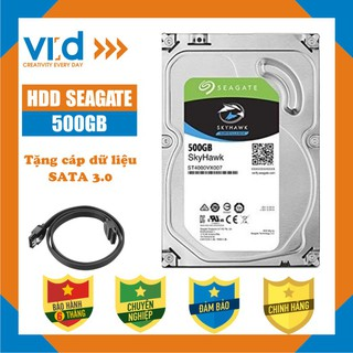 Ổ cứng HDD 500GB Seagate skyhawk - Tặng cáp SATA 3.0 - Bảo hành 6 tháng