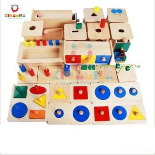 Đồ Chơi Gỗ Trọn Bộ 23 Món Giáo Cụ Montessori 0-3