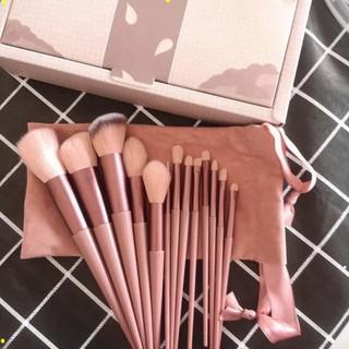 [ bộ 13 cây ] Cọ trang điểm Fix Hồng 13 Cây,bộ Cọ makeup Trang Điểm cá nhân kèm túi đựng HT 4